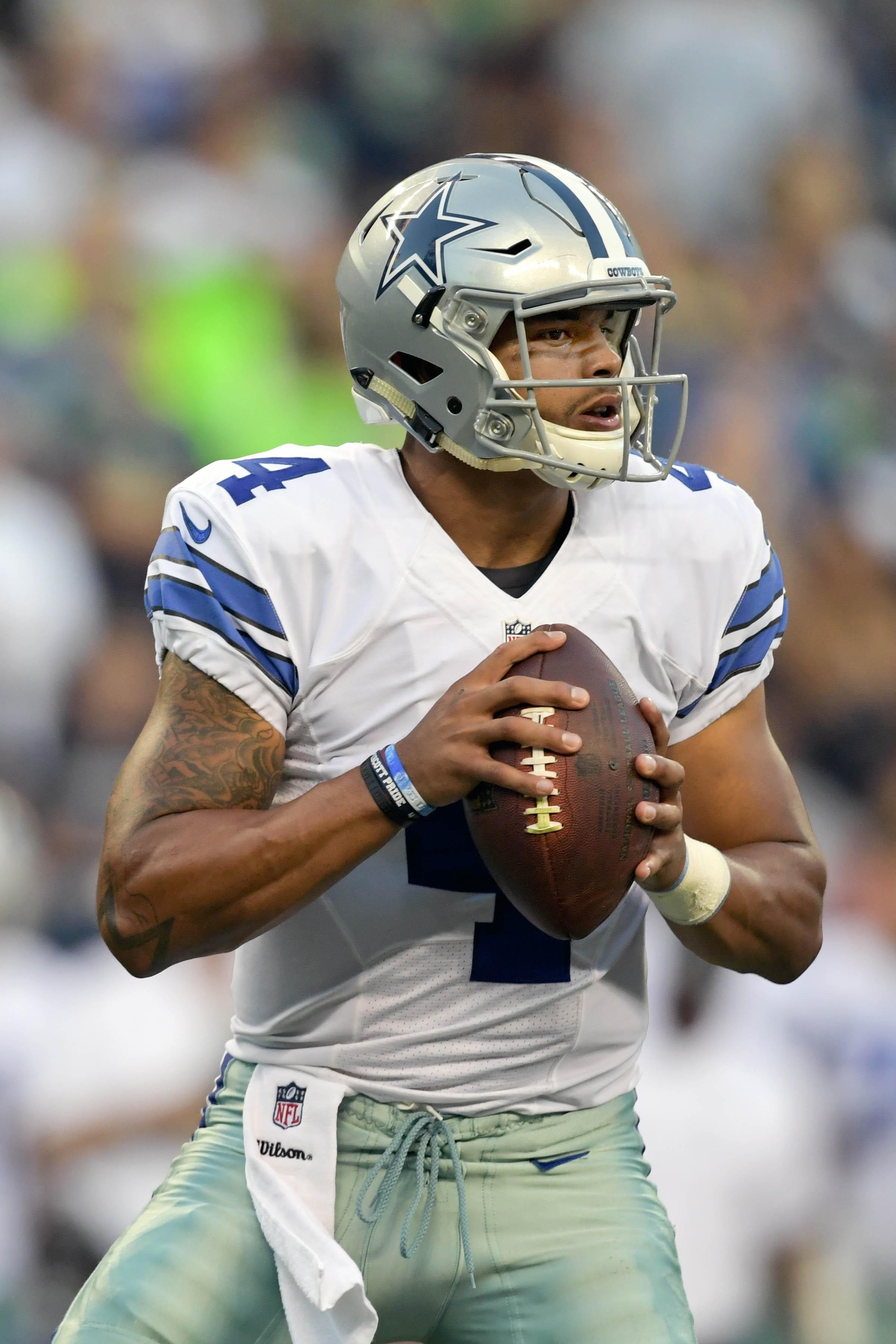 Cowboys 39 dak prescott to start through at least week 9 for The prescott