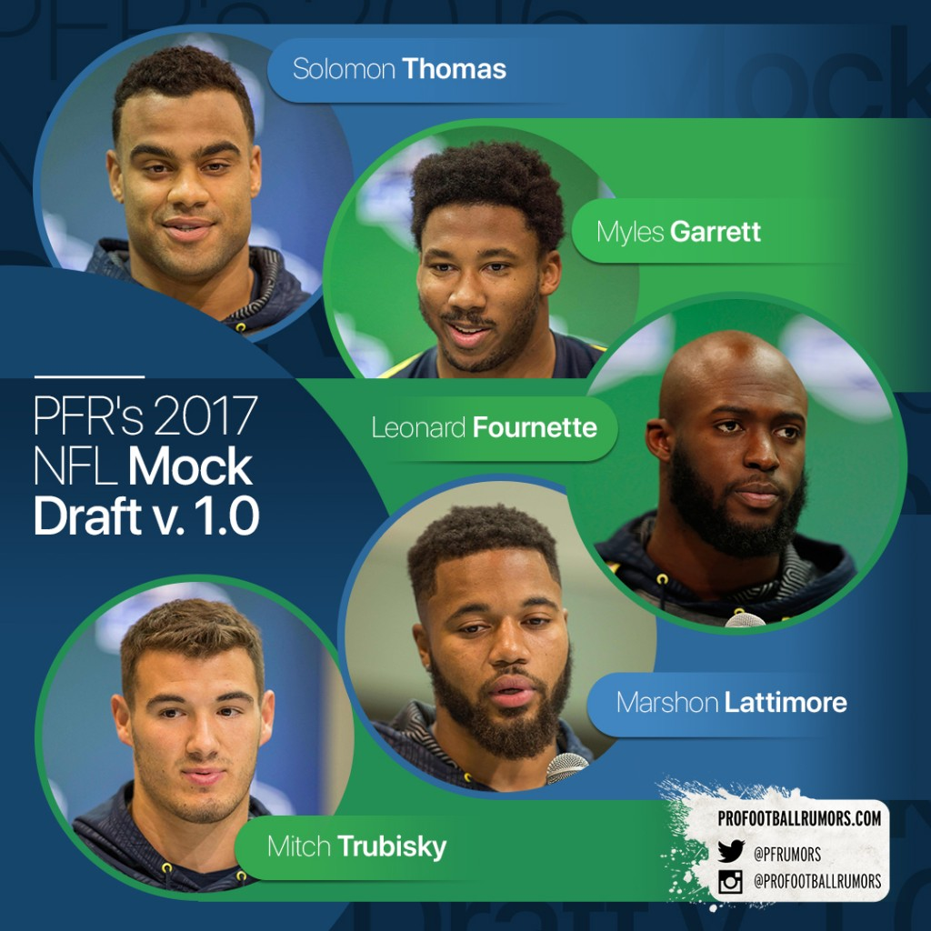 2017 Mock Draft 1.0 (Vertical)