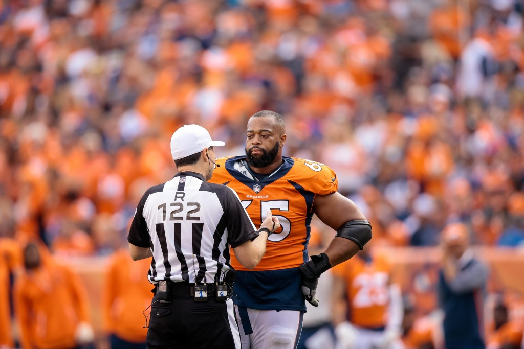 promo code 89c8c bbdca Broncos' Ronald Leary Out For Season